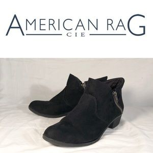 "American Rag ""Abby"" Black Ankle Bootie Size 8.5"